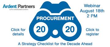 Webinar - August 18 - Procurement 2020