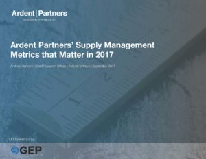 Ardent Partners - SM Metrics that Matter 2017 -TITLE